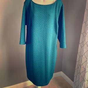 Quilted teal dress